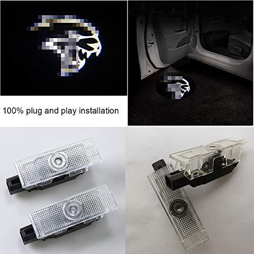 2pcs set Car LED Puddle Projector Ghost shadow logo light For Dodge Challenger SRT Hellcat Demon white color with no fading color glass slides