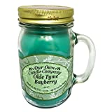 Olde Tyme Bayberry 13 Oz Mason Jar Candle (Our Own Candle Company Brand) Made in USA