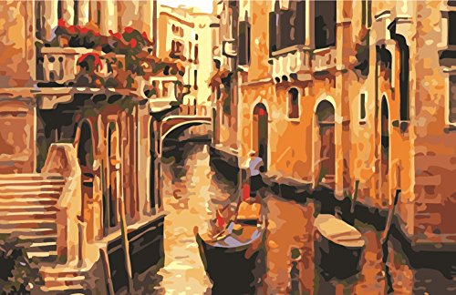 - Greek Art Paintworks Paint Color By Number Kits,Venice Landscape,16-Inch by 20-Inch