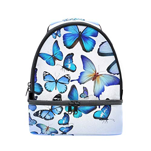 Alinlo Diseño El Térmica Mariposas Bolsa Almuerzo Azul Para De Color RqPR6wO