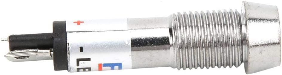 24V 10 pezzi Lampada a LED Lampada di segnalazione in metallo Indicatore luminoso a LED Lampada spia per scopi multipli