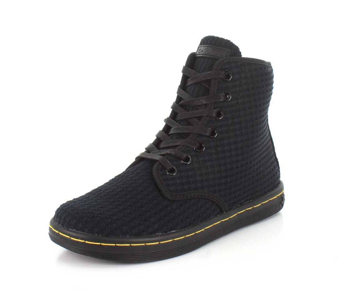 Dr. Martens Women's Shoreditch Boot B01IE73QPQ 5 F(M) UK / 7 B(M) US|Black Waffle Cotton