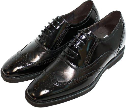 Calden - K320011 - 2,4 Pouces De Hauteur - Hauteur Augmentant Les Chaussures Dascenseur (lacets De Pointe Daile Noire)