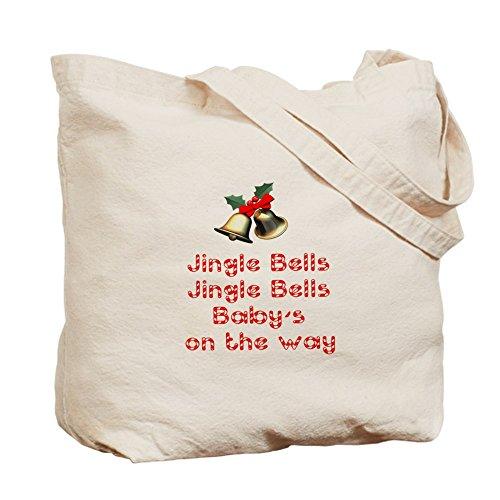 CafePress bebé–de Navidad–Gamuza de bolsa de lona bolsa, bolsa de la compra Small caqui