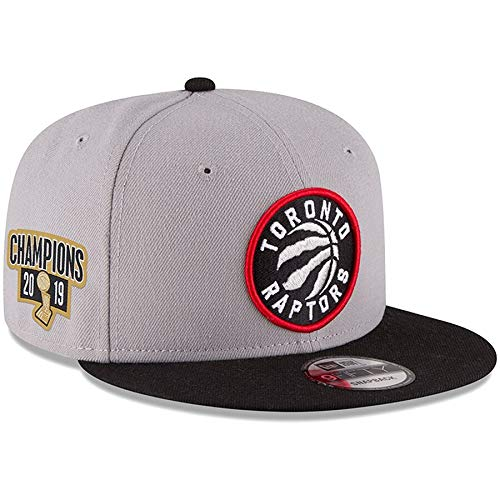 New Era Toronto Raptors 2019 NBA Finals Champions Side Patch Two-Tone 9FIFTY Snapback Adjustable Hat - Gray/Black