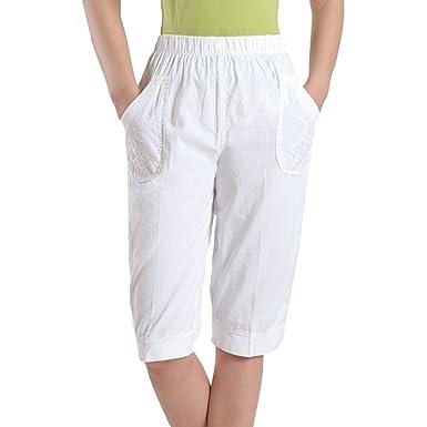 Hibote Pantalones Capri para Mujer Pantalones Baggy para ...