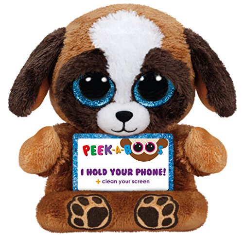 Ty Peek-A-Boo Phone Holder with Screen Cleaner Bottom, Pups