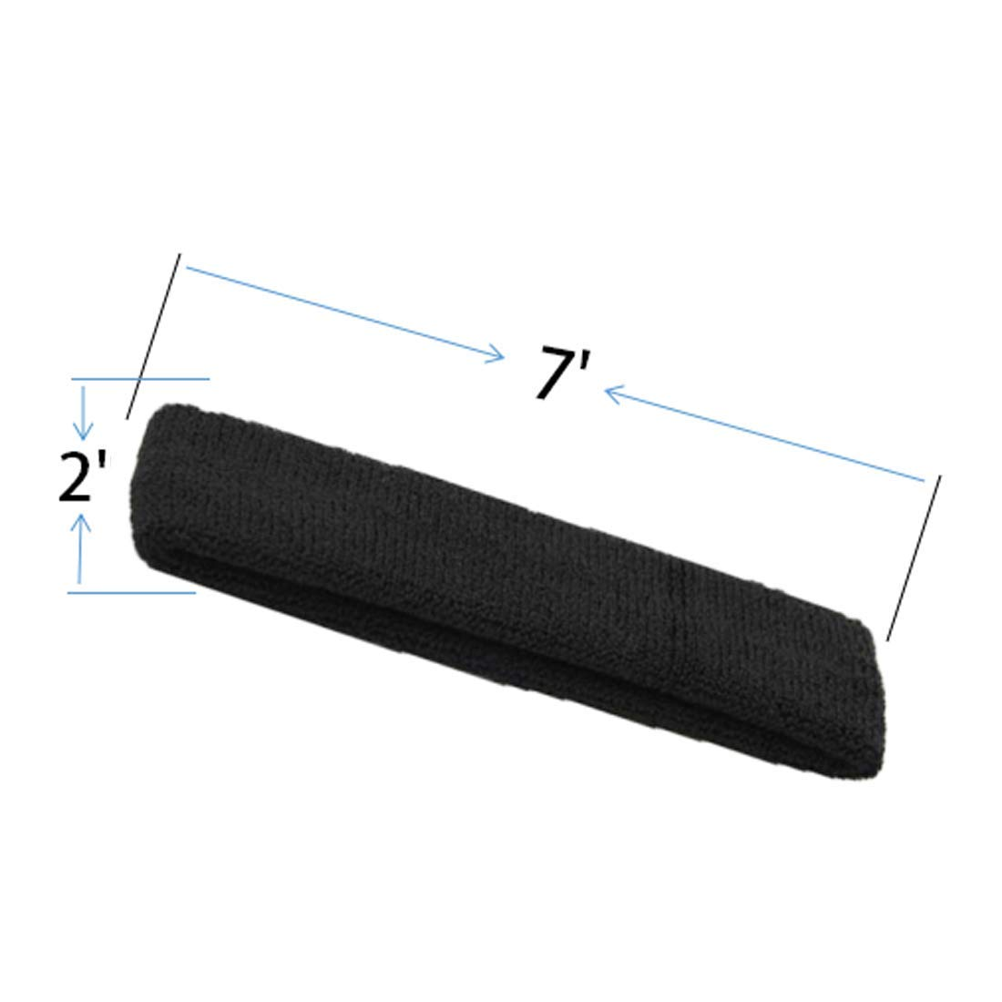 Basketball High Stretch /& Moisture Wicking Soccer BBOLIVE Sports Headband for Men and Woman Gym Athletic Cotton Terry Cloth Head Sweatbands for Tennis Yoga Workout Running
