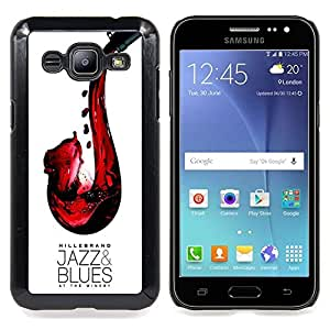 - Jazz Blues Wine Red Saxophone Art - - Snap-On Rugged Hard Cover Case Funny HouseFOR Samsung Galaxy J2