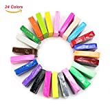 2013newestseller 24pcs Colorful Fimo Effect Polymer Clay Blocks Soft Moulding Craft Creative Fun