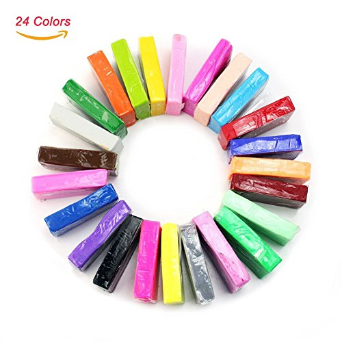 2013newestseller 24pcs Colorful Fimo Effect Polymer Clay Blocks Soft Moulding Craft Creative
