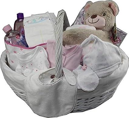 DonRegaloWeb - Cesta - Canastilla de regalo niña recién nacida con ...