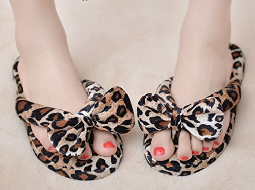 Comfy Flip Flops Fuzzy Cattior Ladies Slippers Womens Leopard 5BwqEExR