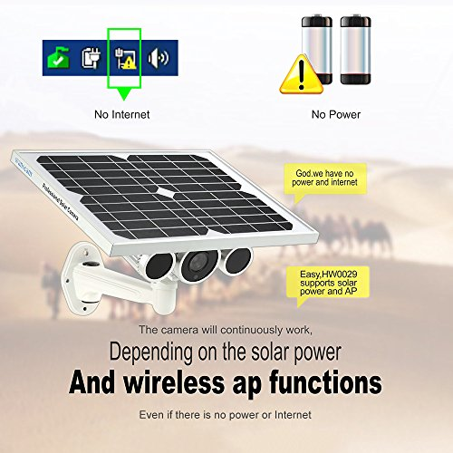Wanscam HW0029 Outdoor Solar Power IP Camera With Battery 720P H.264 8mm Lens Waterproof WiFi Wireless Night Vision IR15m ONVIF2.1 P2P Surveillance Security Camera by KKmoon (Image #8)