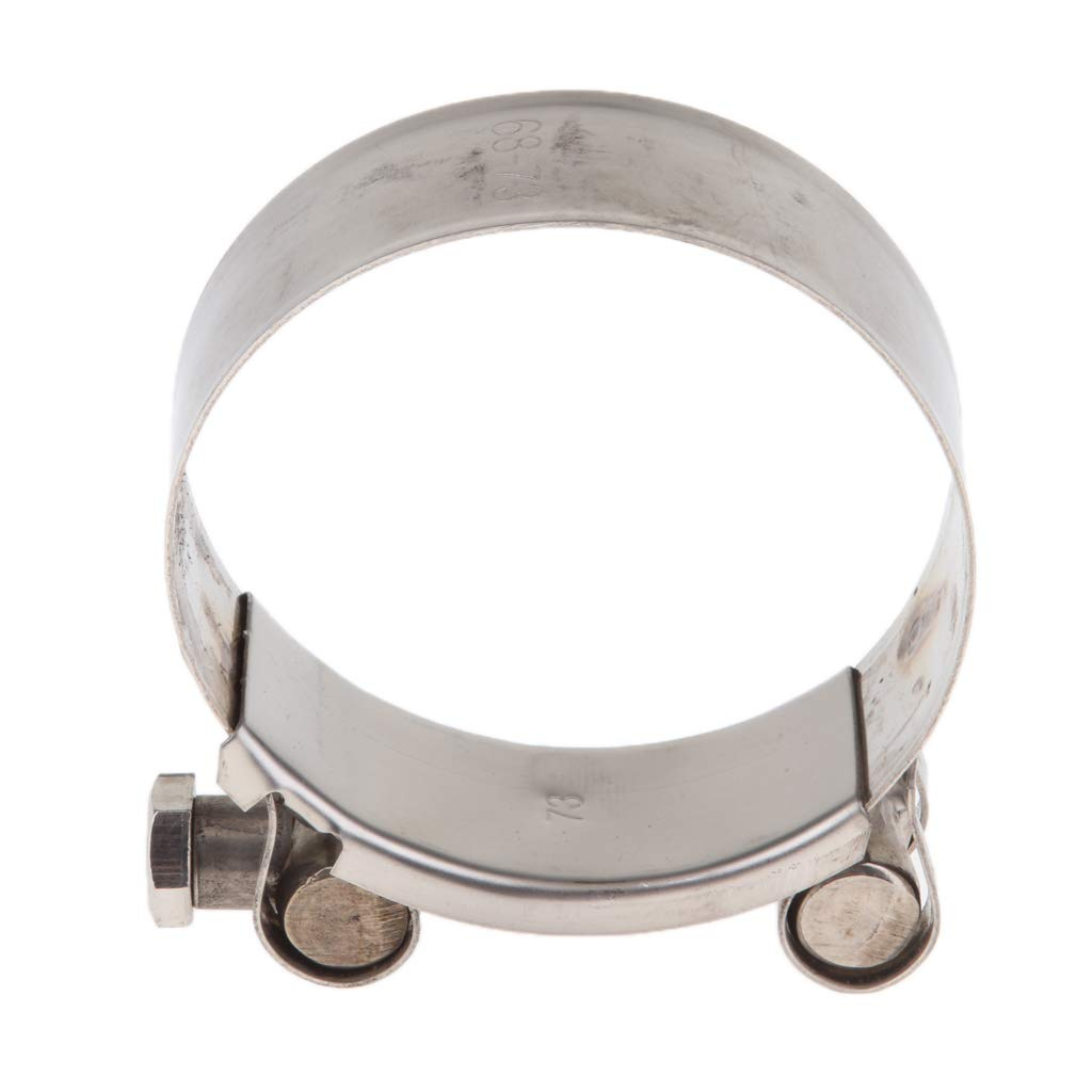 64-67mm Stainless Steel B Baosity Heavy Duty Exhaust Band Clamp Reolacement for Motorcycle