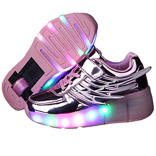 Jedi fight back Kids Girls Boys Wings Lace up Single Wheels Skate Shoes