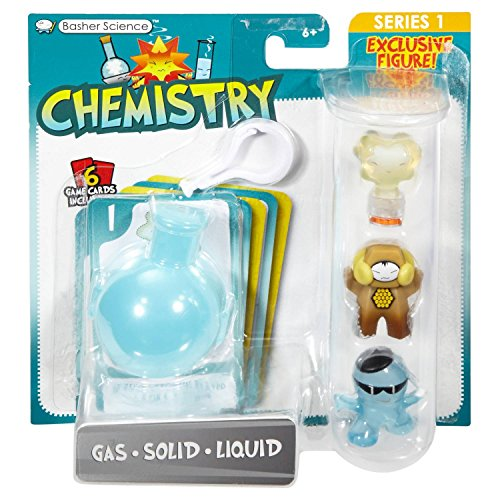 Basher Science Chemistry - Gas/Solid/Liquid 3-Pack (A List Of Solids Liquids And Gases)