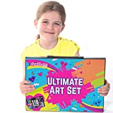 GIFTS FOR GIRLS: 114 Piece Art Set With Carry Case, Birthday Gift Present - Creative Arts and Crafts Gift For Girls Age 3 4 5 6 7 8 Years Old.