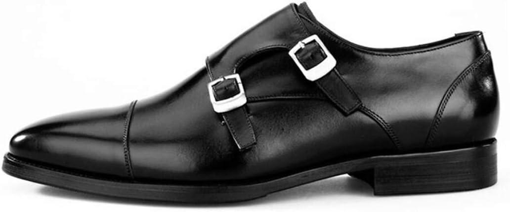 KTYXGKL Mens Belt Buckle Buckle Lok Fu Shoes Flat Shoes Oxford Cloth Dress Business Shoes Mens Casual Comfort Dress Shoes 38-44 Yards Mens Leather Boots Color : Black, Size : 43 EU