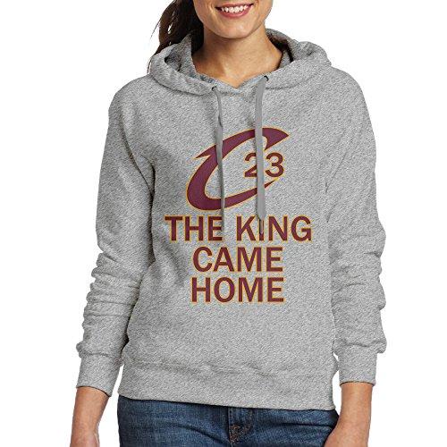 DETO Women's Cleveland James #23 King Sweatshirt Ash Size XL