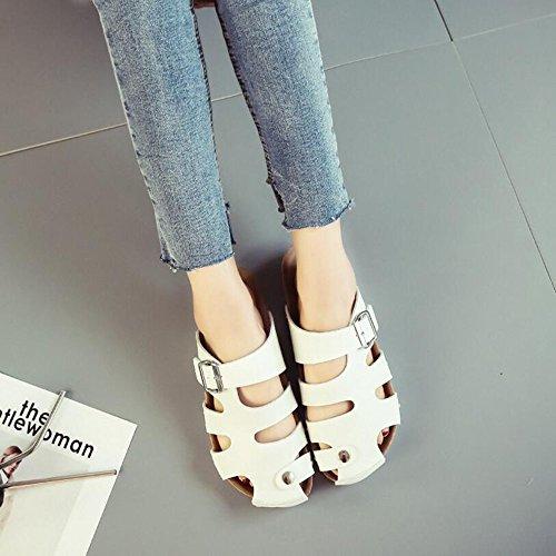 mujer playa Zapatos Zapatos GAOLIXIA de de de Zapatos Sandalias Talla cuero pareja mujer verano cuero huecas para 44 Zapatos Blanco verano Ons de sandalias de de de 35 mujer de Slip TqSIwnCzx