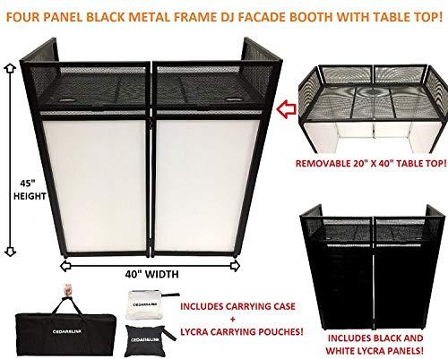 DJ Event Facade White/Black Scrim Metal Frame Booth + 20