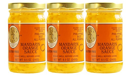 Lola Cion's Mandarin Orange Sauce (8.5 oz.) 3 pack bottles. All Natural, Gluten Free Multipurpose Glaze, Dressing, Topping, or Dip | Sweet, Low -Sugar Flavor | Cooking and Baking