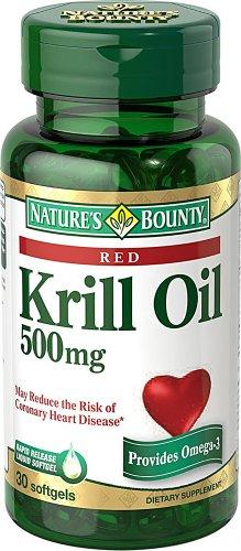Natures Bounty Huile de Krill gélules, 500 mg, 30 Count