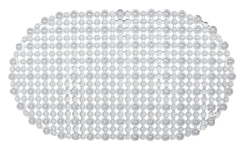 Ginsey Home Solutions AquaTouch Gemstone Vinyl Bath Mat, Clear 15' x 27'