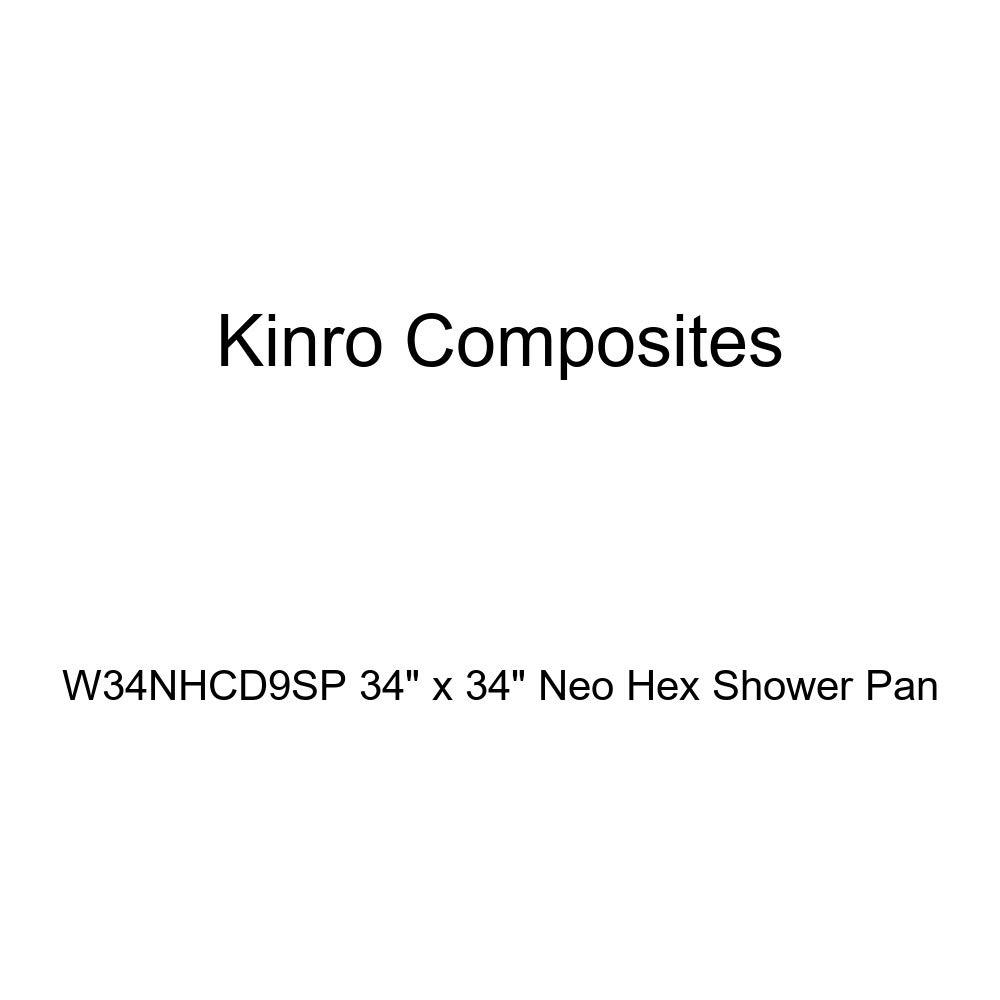 Kinro Composites W34NHCD9SP 34'' x 34'' Neo Hex Shower Pan