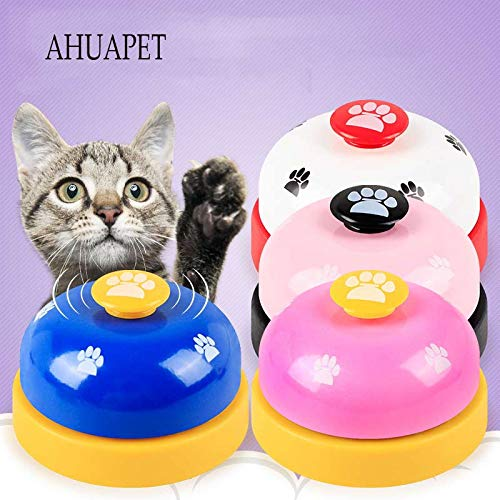 AHUAPET Training Dog Toys Pet Toy Training Called Dinner Small Bell Footprint Ring Puzzle Food Toy for Teddy Puppy IQ Train E