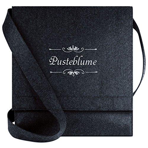 Halfar® Tasche mit Namen Pusteblume bestickt - personalisierte Filz-Umhängetasche ufKBCooPy