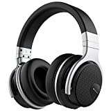 Mighty Rock E7 Active Noise Cancelling Headphones Bluetooth Headphones Over Ear with Microphone Hi-Fi Deep Bass Comfortable Protein Earpads Wireless Headphones (Black)