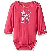 Carhartt Baby Little Girls' Long Sleeve Bodyshirt, Pink, 6M
