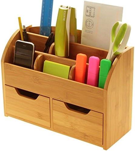 Schreibtisch Stationery Organizer Box (oder Wand montiert) Schreibtischset aus natürlichem Bambus