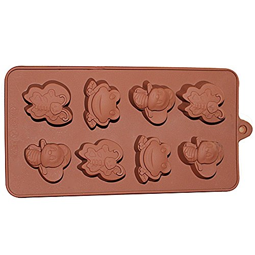 8 Friendly Pond Animal Chocolate Candy and Soap Mold