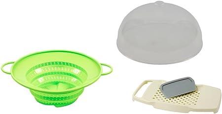 Compra Koch Maravillas Set Completo multifunción de Colador, Campana extractora & Spätzle – Tabla el Producto Original de la TV. Color: Verde en Amazon.es
