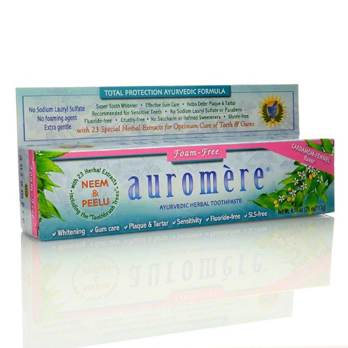 Auromere Cardamom Ayurvedic Non Foaming Toothpaste - 1 x 4.16 (Ayurvedic Herbal Toothpaste)