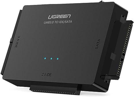UGREEN USB 3.0 a IDE y SATA Adaptador para 2,5 y 3,5 Disco Duro