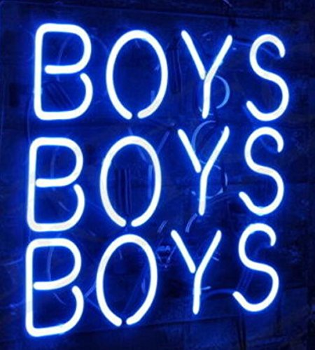 Mirsne neon signs, glass tube neon lights, 16'' by 16'' inch Boys Boys Boys neon signs bar, the best neon sign custom supplied for a wide range of personal uses.