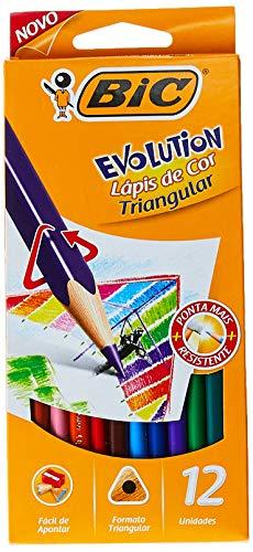 Lápis de Cor Sextavado, BIC 930126, Multicor, Pacote de 6