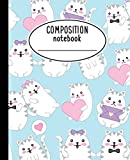 #10: Composition Notebook: Kawaii Cute Cat Notebook For Girls - Wide Ruled Notebook 7.5