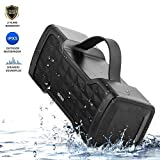 JONTER IPX5 Waterproof Bluetooth Speaker with Rich Bass Loud Stereo Sound, Portable Wireless Speaker for Home/Outdoor/Beach/Travel - Black