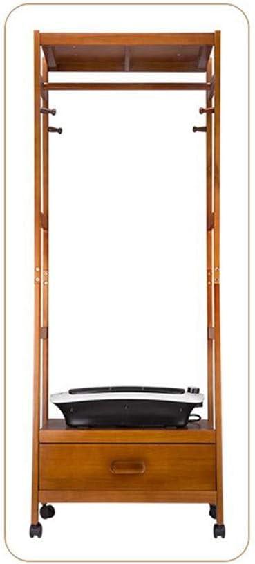 FORWIN UK- Secador Multifuncional Secador pequeño Armario pequeño Capacidad Grande 20 KG Perchero Armario seco de Madera Maciza (Color : Color Madera)