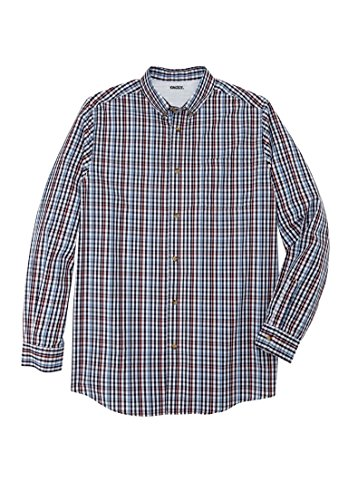 Multi Check Shirt - KingSize Men's Big & Tall Wrinkle-Resistant Long Sleeve Sport Shirt, Multi Check