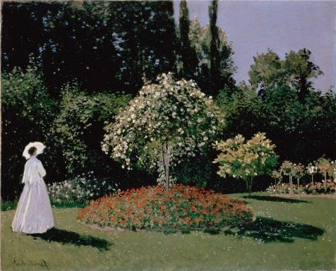 China Rose Block Garden (Perfect Effect Canvas ,the Imitations Art DecorativeCanvas Prints Of Oil Painting 'Jeanne-Marguerite Lecadre In The Garden, 1866 By Claude Monet', 30x37 Inch / 76x94 Cm Is Best For Gym Decoration And Home Artwork And Gifts)