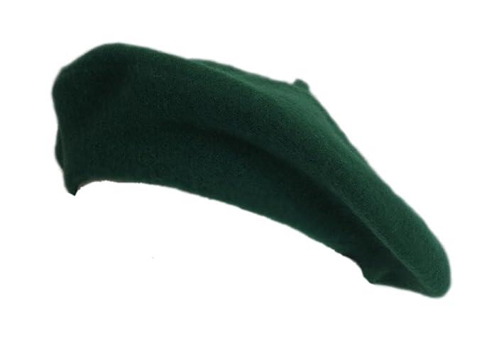 fd04b961ed0 100% Wool Kelly Green Beret French Parisian Hat at Amazon Women s ...