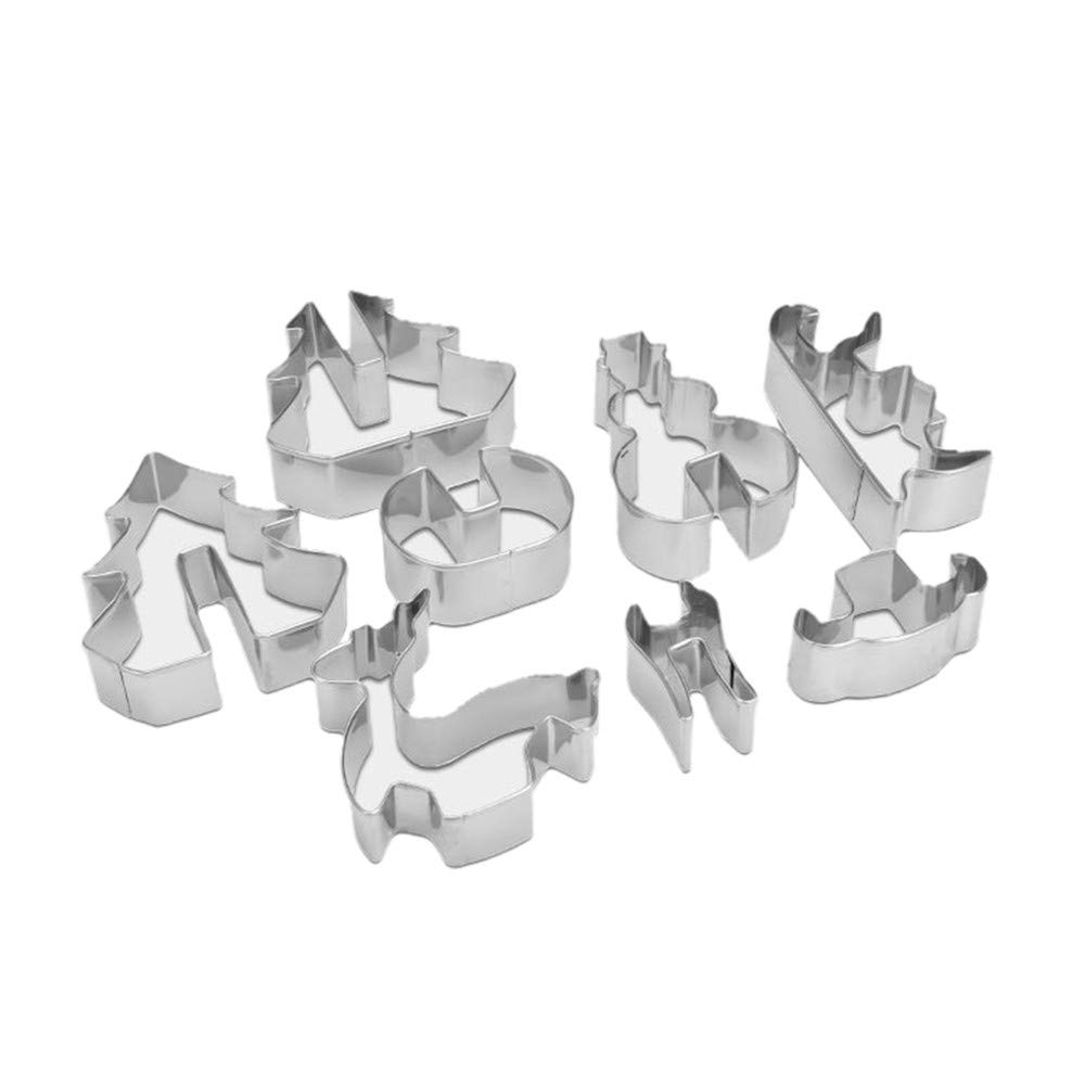 Amazon.com: Gessppo Stainless Steel Cake Biscuit Cookie Cutter Cake Mold DIY Baking Pastry Tool (A): Home & Kitchen