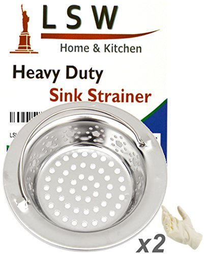 LSW Heavy Duty Sink Strainer (2, With Side Drain Holes) PackageQuantity: 2 Color: With Side Drain Holes Model: