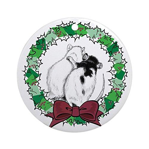CafePress - Rat Hug Wreath Ornament (Round) - Round Holiday Christmas Ornament